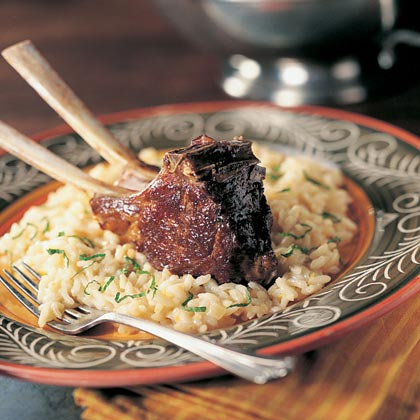 Lamb Chops with Mint Risotto Recipe