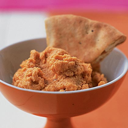 Spiced Red Lentil Dip with Pita CrispsRecipe