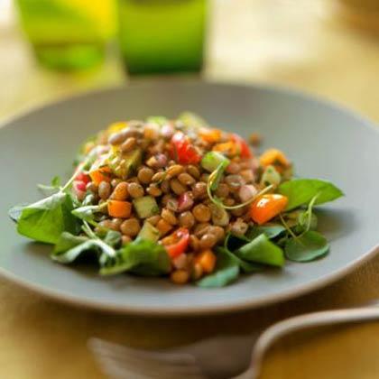 Grilled-Vegetable Salad with Lentils