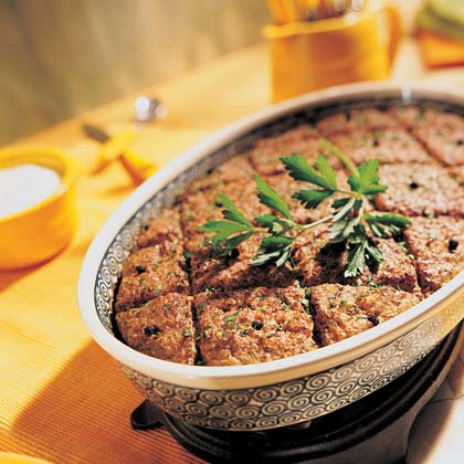 Lebanese meat loaf recipe myrecipes for Arabic cuisine names