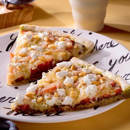 Nutty Pesto Pizza