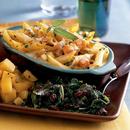 Butternut Squash and Parsnip Baked Pasta