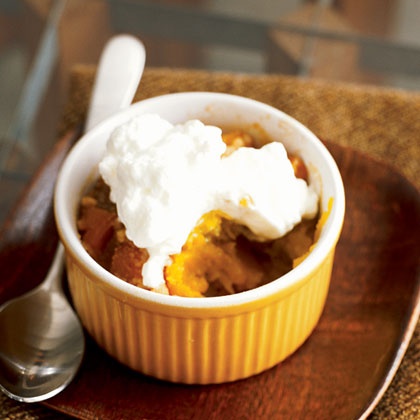 Caramelized Pumpkin and Pear Crumble