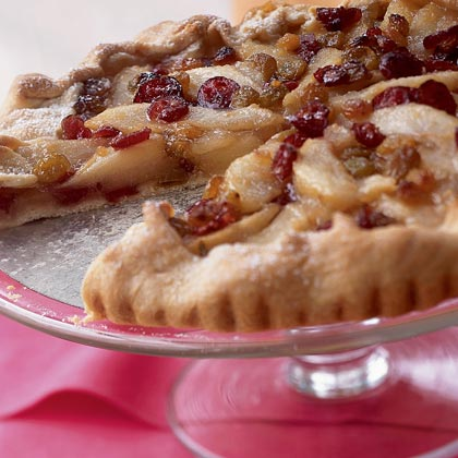 Cooking Light's Pear Galette with Brandied Cranberries and RaisinsRecipe