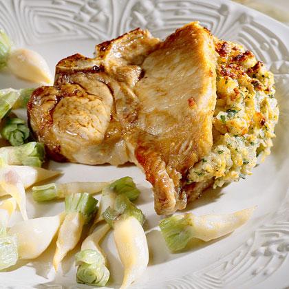 Pork Chops With Ripieno Recipe