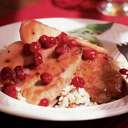 Pork Medallions with Cranberries and Apples Recipe