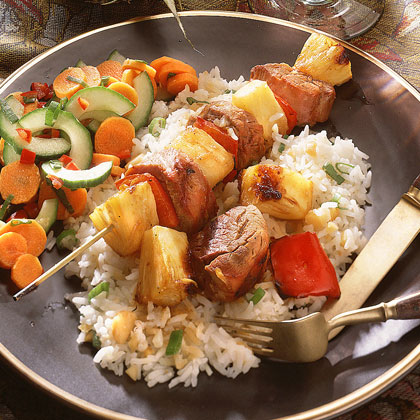 Pork-and-Pineapple Kebabs Recipe | MyRecipes