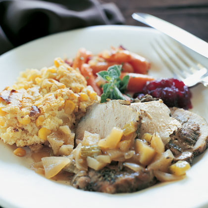 Braised Pork Roast With Apple-Brandy Sauce