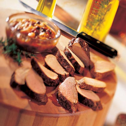Pork Tenderloin with Rum Chutney