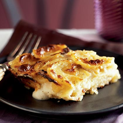 Potato Gratin with Goat Cheese and Garlic Recipe