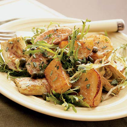 Warm Roasted-Potato Salad with Artichokes