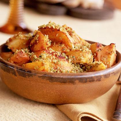 Saffron Potatoes with Almonds