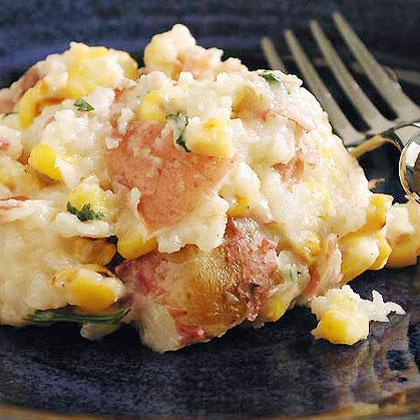 Corn and Smoked Mozzarella Mashed Potatoes
