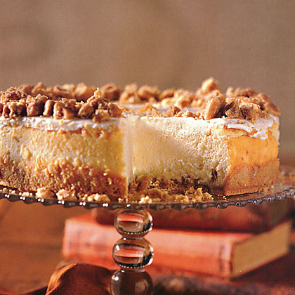 Praline-Crusted Cheesecake Recipe