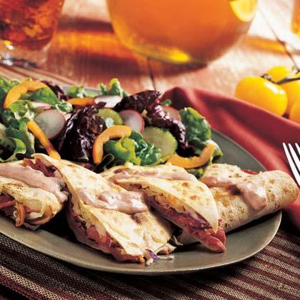 Reuben Quesadillas Recipe | MyRecipes