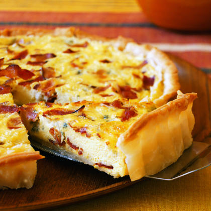 With blue-cheese dressing and a ready-made pie crust in the refrigerator, you're only minutes away from assembling a perfect brunch for your neighbors.The Quickest Quiche Recipe