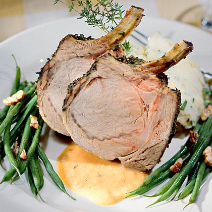 Herb-Crusted Rack Of Pork