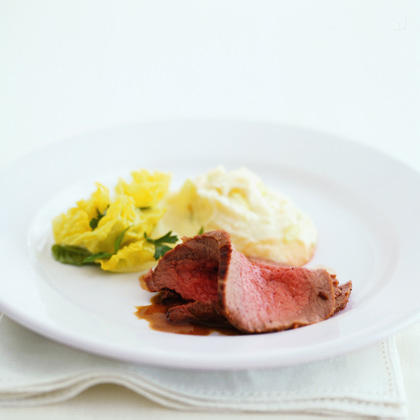 Roast Beef with Horseradish Potatoes