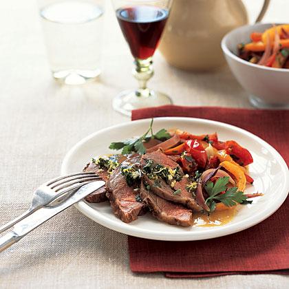 roast-lamb-peppers Recipe