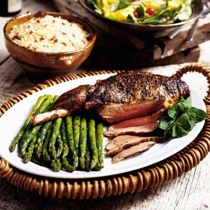 Roast Leg of Lamb with Herbs