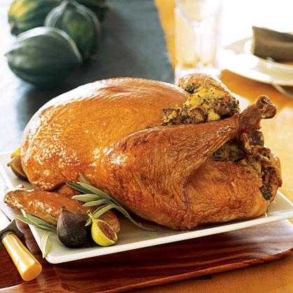 Roast Turkey with Sage Stuffing and Gravy