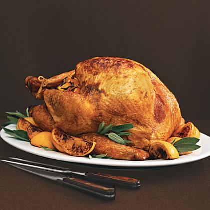 Roast Turkey with Sage and Orange Gravy
