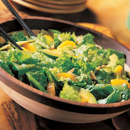 Romaine Salad with Mandarins and Asian Dressing