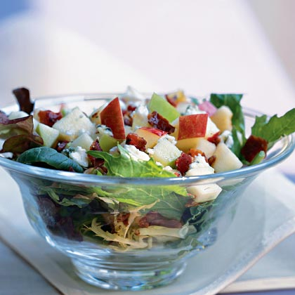 Mixed Apple Salad over Greens Recipe