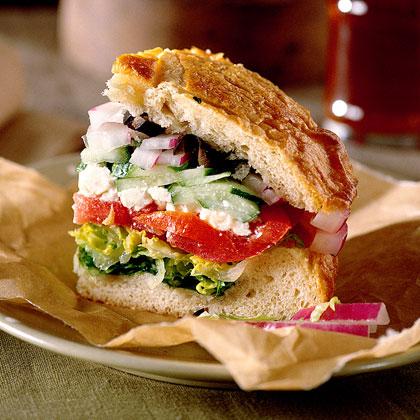 Tuscan Feta Salad Sandwich Recipe