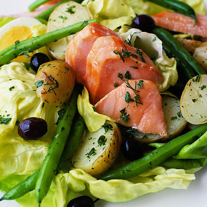 Salmon Niçoise Salad RecipeLet your inner-Child out with this surprisingly easy yet show-stopping salad.