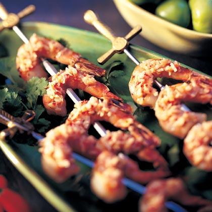Javanese Sambal with Grilled Shrimp