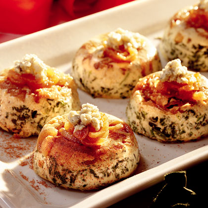 Savory Spinach-Gorgonzola Custards