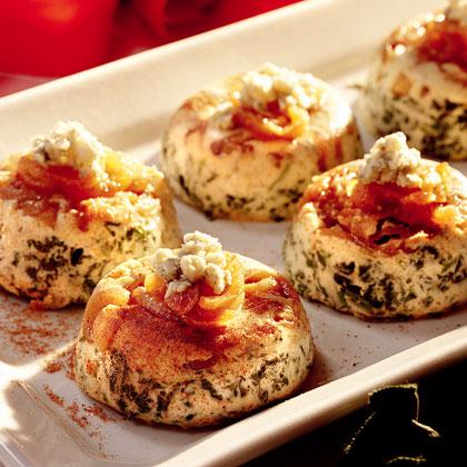 Savory Spinach-Gorgonzola Custards Recipe