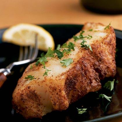 Cumin-Crusted Chilean Sea Bass