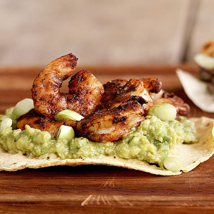 Shrimp-and-Guacamole Tostadas Recipe