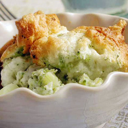 Lemon-Scented Broccoli Soufflé