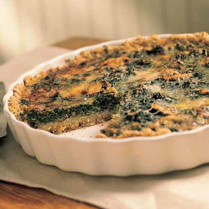 Mushroom-and-Spinach Quiche in an Oat Crust Recipe MyRecipes