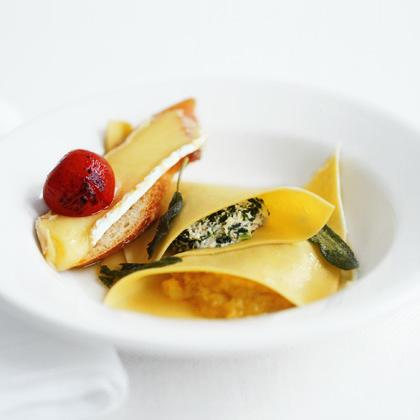 Spinach and Acorn Squash  Ravioli
