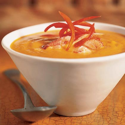 Curried Butternut Squash Soup with Crab Recipe