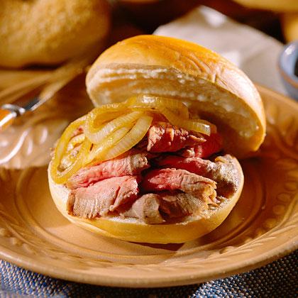 Steak Bagel Sandwiches Recipe