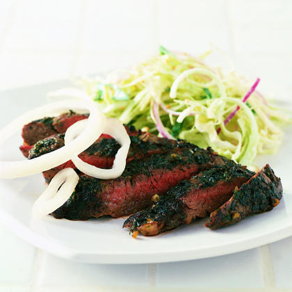 Steak with Fresh Herbs