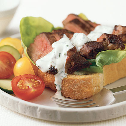 Steak Sandwiches with Tarragon Mayonnaise Recipe
