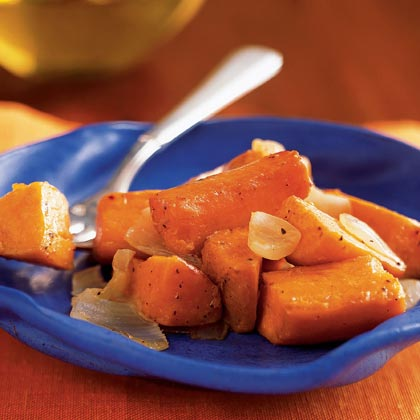 Oven-Roasted Sweet Potatoes and OnionsRecipe