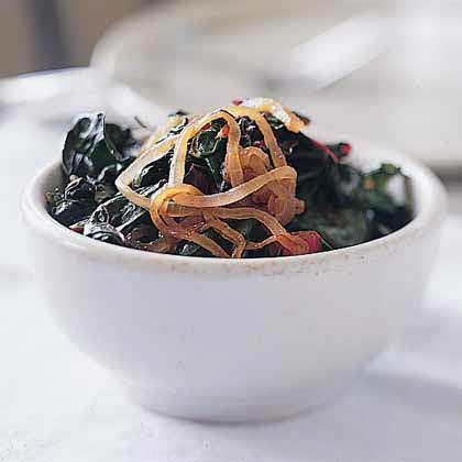 Swiss Chard with Onions Recipe