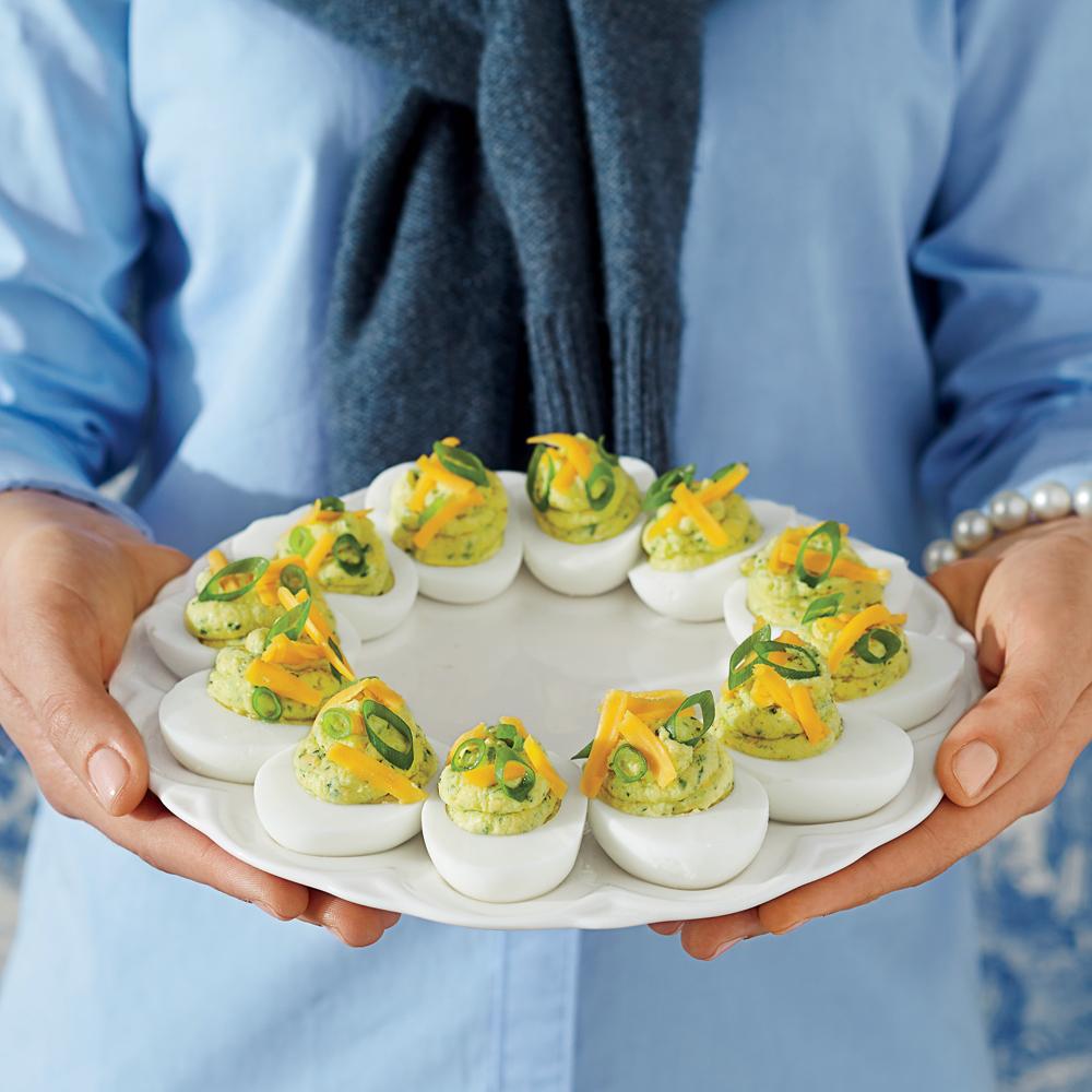 <p>Tex-Mex Deviled Eggs</p>