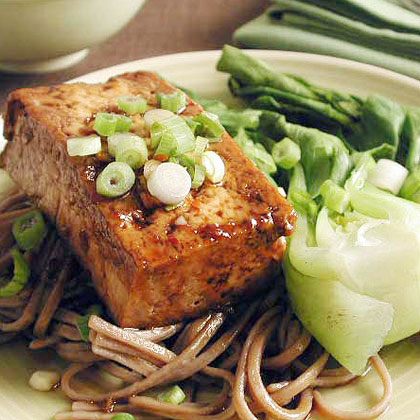 Teriyaki Tofu Steaks with Soba NoodlesRecipe