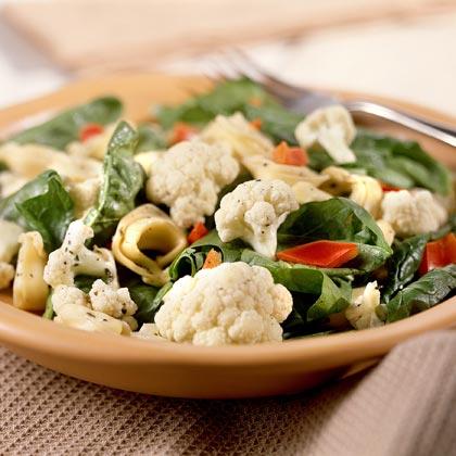Tortellini-Cauliflower Toss