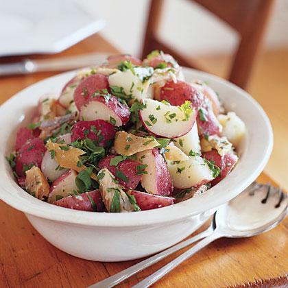 Warm Smoked-Trout Potato Salad