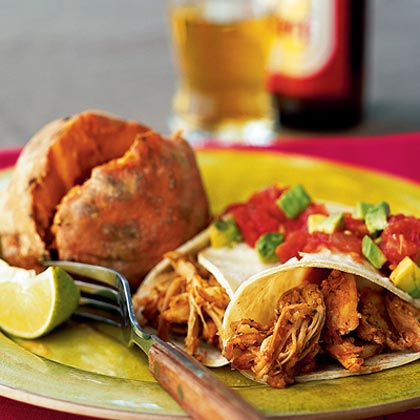 Spicy Turkey Soft Tacos