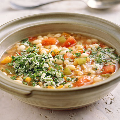 Wheat Berry Soup with White Beans and RosemaryRecipe
